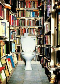 library-bathroom, robert couturier's pinterest via Laurel Home