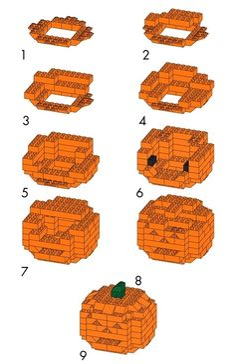 DIY Pumpkin Lego ... now if only I had that many orange legos!!!