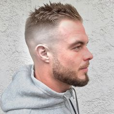 Short Hair For Receding Hairline – High Skin Fade with Short Crew Cut on Top - Hair Cutting Style Bad Hairline, Receding Hairline Styles, Haircuts For Receding Hairline, Short Fade Haircut, Short Hair Cuts, Haircut Men, Men Short Hair Fade, Short Hair Styles Men, Haircut Styles