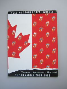 Rolling Stones Steel Wheels Canadian Tour Concert Program 1989 by TheVinylGarage…
