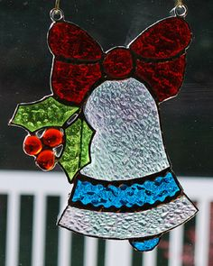 Stained glass sun catcher/ wall hanging Christmas by ManemannArt, $25.00