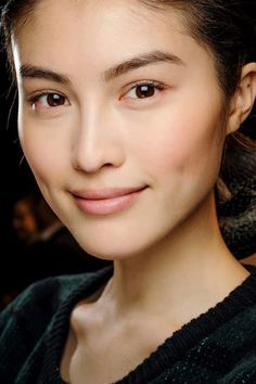 clean- very light blush on cheeks