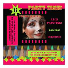 >>>Coupon Code          Kids Face Painting Birthday Party Invitation           Kids Face Painting Birthday Party Invitation online after you search a lot for where to buyDiscount Deals          Kids Face Painting Birthday Party Invitation today easy to Shops & Purchase Online - transferred ...Cleck Hot Deals >>> http://www.zazzle.com/kids_face_painting_birthday_party_invitation-161804021299522970?rf=238627982471231924&zbar=1&tc=terrest