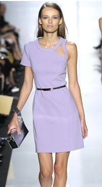 Belted purple dress from Michael Kors Spring Summer collection at Fashion Week in 2010.PNG