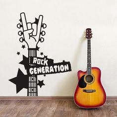 01031 - Rock Generation  Adesivi Murali Stickers di Wall Art - Adesivi Murali su DaWanda.com