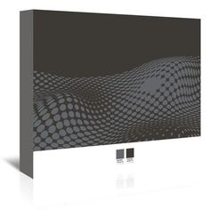 Americanflat Grey Ovals on Black 2 by Armand Graphic Art on Wrapped Canvas Size: