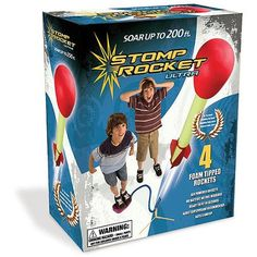 What could be more fun than launching a rocket hundreds of feet in the air? The stomp rocket allows you to do just that. Jumping on the stomp pad sends the rocket soaring into the sky. One of the hottest toys of the summer, this will be sure to put a smile on any kid's face. This is the perfect summer gift to take into the backyard, a park, or anywhere outdoors.  #StompRocket #OutDoors