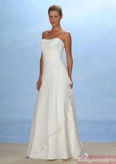 Beach Casual Summer Aus Beautiful Sleeveless Strapless A-line Buy Modest Cheap Wedding Dresses 010mdwd-b-bhwd0028