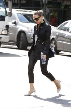 Sarah Jessica Parker in a black jacket