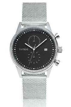 TAYROC Watches Chrono Silver Meshband Men's Luxury Watch Designer Free Shipping*