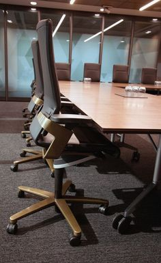 St George | Brisbane | ON office chair in #gold and CONFAIR folding table by #Wilkhahn