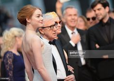 Emma Stone, Woody Allen and Parker Posey attend the 'Irrational Man' Premiere during the 68th annual Cannes Film Festival on May 15, 2015 in Cannes, France.