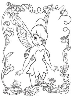 Disney Fairies Tinkerbell Free Coloring Page Online Printable Pages Sheets For Kids Get The Latest