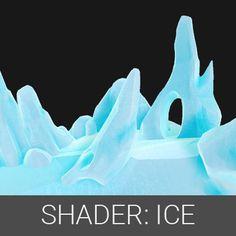 Ice Shader, Steve Zapata on ArtStation at https://www.artstation.com/artwork/blkGo