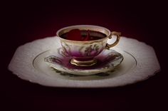 """Blood Tea"" - lightjet photograph by Jonathan Cameron School Photography, Still Life Photography, Dark Images, High Tea, Tea Time, Tea Party, Tea Cups, Tableware, Blood"