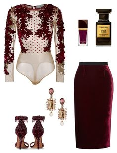 """241"" by remedijos ❤ liked on Polyvore featuring Amen, Tom Ford, Givenchy, Roland Mouret and Oscar de la Renta"