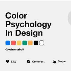 Understand how different colours can impact the subconscious in UI design. Ui Design, Make Design, Graphic Design, Design Trends, Design Ideas, Color Psychology Test, Learn Computer Coding, Diys, Cinema