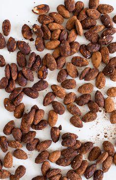 cocoa cinnamon cayenne almonds-- munchies with attitude!