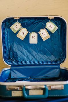 A beautiful and creative travel themed wedding with vintage suitcases, an international candy bar and more // photo by Marissa Moss Photography: http://www.marissa-moss.com || see more on http://www.artfullywed.com