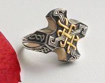Celtic Ring Men.Celtic Signet Ring.Celtic Jewelry.Celtic Knot Ring.Celtic