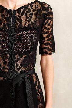 What a dress! Black lace dress Carissima Sheath - anthropologie.com