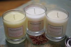 Recycled Glass Soya wax candles