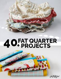 40 Fat Quarter Projects! | Little projects that you can make with a scrap of fabric are some of my favorite things to make! Here are 40 fat quarter projects that will get you started! || See Kate Sew #fatquarters#sewingprojects #sewing #seekatesew