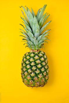 pineapple on a yellow background Shadow Photography, Fruit Photography, Abstract Photography, Angie Yonaga, Yellow Aesthetic Pastel, Pineapple Wallpaper, Pineapple Fruit, Food Wallpaper, Islamic Art Calligraphy