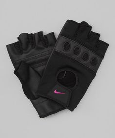 Take a look at this Black  Rave Pink Pro-Flow Training Gloves - Women by Nike on #zulily today!