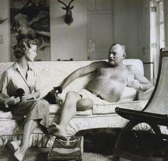 Lauren Bacall and Ernest Hemingway. http://www.vintag.es/2011/07/photos-of-ernest-hemingway-partying.html
