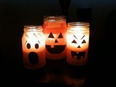 Jack-o-lantern jar tutorial
