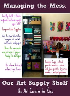 This Sunday afternoon, my girls and I did some craft time, so I thought I'd share the results and give you a bit of information about how I manage the mess in my house. At my house, I have a big bookshelf for all my arts and crafts stuff. I recently reorganized it, and it …