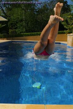 Learn to DIVE into a pool!