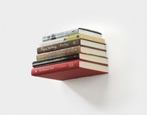 This floating bookshelf is perfect for an ultra-minimal look. The Conceal bookshelf from Umbra mounts to the wall and becomes invisible behind a stack of books, giving the books the appearance of floating in mid-air.