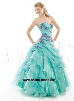 Türkis Abendkleid Ballkleid mit Sick von www.online-mode.biz