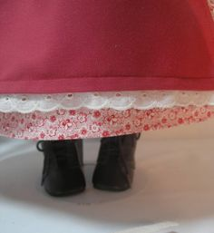 1854-106-4 Dress Shawl Apron and Hair Ribbons for by terristouch