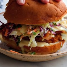 All my friends raved about these fried chicken sandwiches! This recipe for fried chicken is surprisingly easy and SO GOOD. Just soak, dredge, and fry! Better-than-takeout chicken fried riceChicken Fried RiceCrock Pot Pineapple Chicken Sandwiches Fried Chicken Sandwich, Chicken Fried Chicken, Popeyes Chicken Sandwich Recipe, Grilled Hamburger Recipes, Fried Chicken Breast, Turkey Burger Recipes, Chicken Sliders, Chicken Bacon Ranch, Asian Chicken