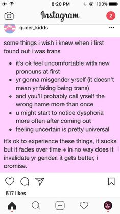 Not trans, but this works for nonbinary as well! Keep safe luvs!