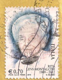 Briefmarke-Europa-Südeuropa-Italien-2013-0.70-Rita Levi-Montalcini
