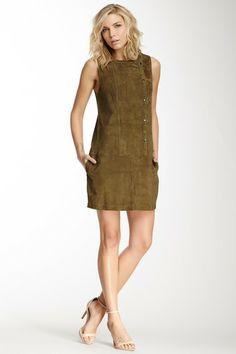 Elizabeth & James Stanton Suede Drop Waist Dress by Elizabeth and James on @HauteLook