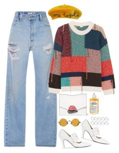 A fashion look from January 2018 featuring orange sweater, vintage jeans and pointed-toe pumps. Browse and shop related looks. Aesthetic Fashion, Aesthetic Clothes, Look Fashion, Fashion Outfits, Retro Outfits, Stylish Outfits, Vintage Outfits, Cool Outfits, Harry Styles Clothes