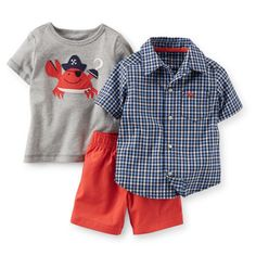 Carters-Boys-3-piece-Playwear-Set-Blue-and-Gray-Pirate-Crab