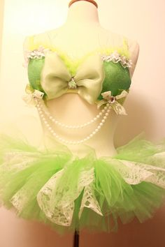 Little Fairy Tink set 34B/Small custom halloween rave clothing costume dollz for days