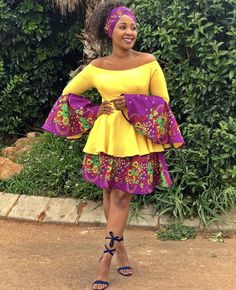 XiTsonga Tradition - @nomps_bokkie African Fashion Skirts, African Dresses For Kids, African Print Dresses, African Prints, South African Traditional Dresses, Traditional Outfits, Seshoeshoe Dresses, Bridesmaid Dresses, Fashion 101