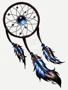 dream catcher tattoo but with peacock feathers