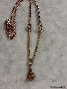 Vintage Meets Buddha Rhinestone Copper Reassembled by WinterPearls, $48.00