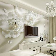 Art Decó 3D Fondo de pantalla Para el hogar Contemporáneo Revestimiento de pared , Lienzo Material adhesiva requerida Mural , 5595963 2017 – $2,493.38