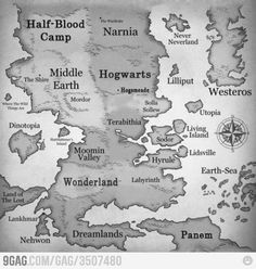 Camp Halfblood, Panem, Narnia, Hogwarts, Never Neverland, pretty much the world of my dreamlife.