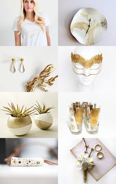 ^^^  White and Gold  ^^^ by Gilberto Vavalà on Etsy--Pinned with TreasuryPin.com