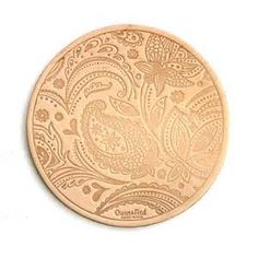 Paisley Leather Coasters - Natural